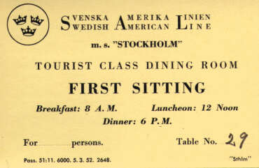 Seating card